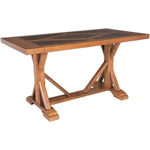 picture of vintage refectory counter height table