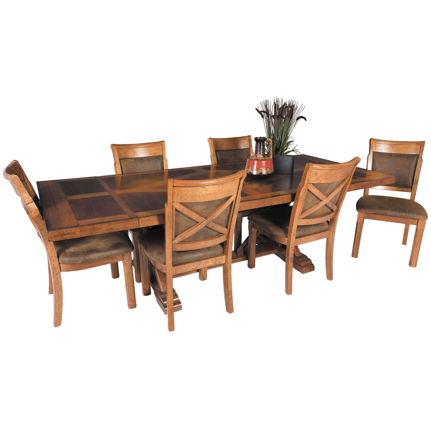 Picture Of Vintage Refectory Dining Table