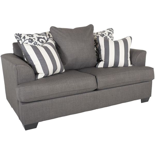 Charmant Levon Charcoal Loveseat