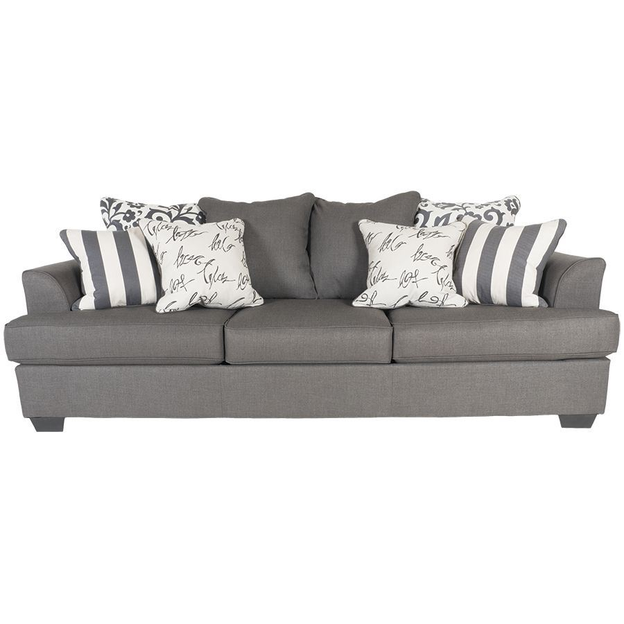Levon charcoal sofa ll 734 s ashley 7340338 afw for Charcoal sofa