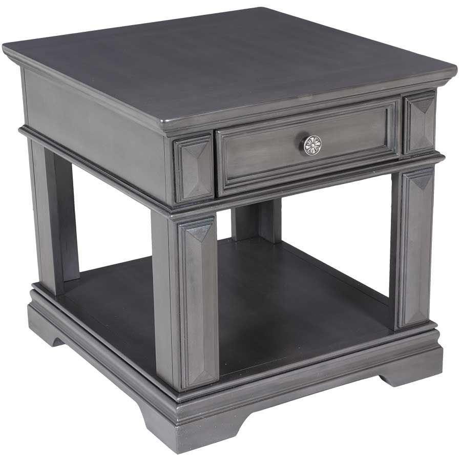 garrison end table with drawer 28404 standard furniture afw. Black Bedroom Furniture Sets. Home Design Ideas