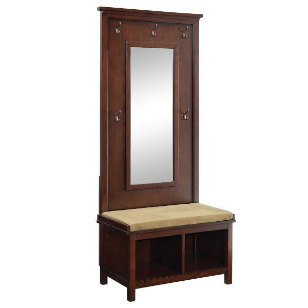 Hall tree raw umber 900803 coaster company afw for Coaster co of america furniture