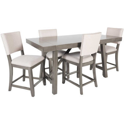 Picture of Omaha Grey Counter 5 Piece Dining Set