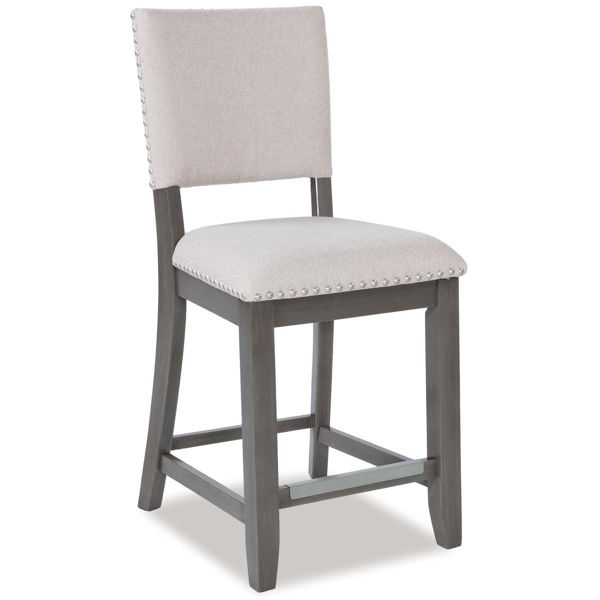 Omaha Grey Upholstered Barstool