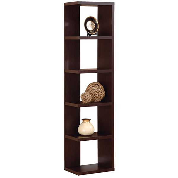 Modern Display Tower, Red Cocoa