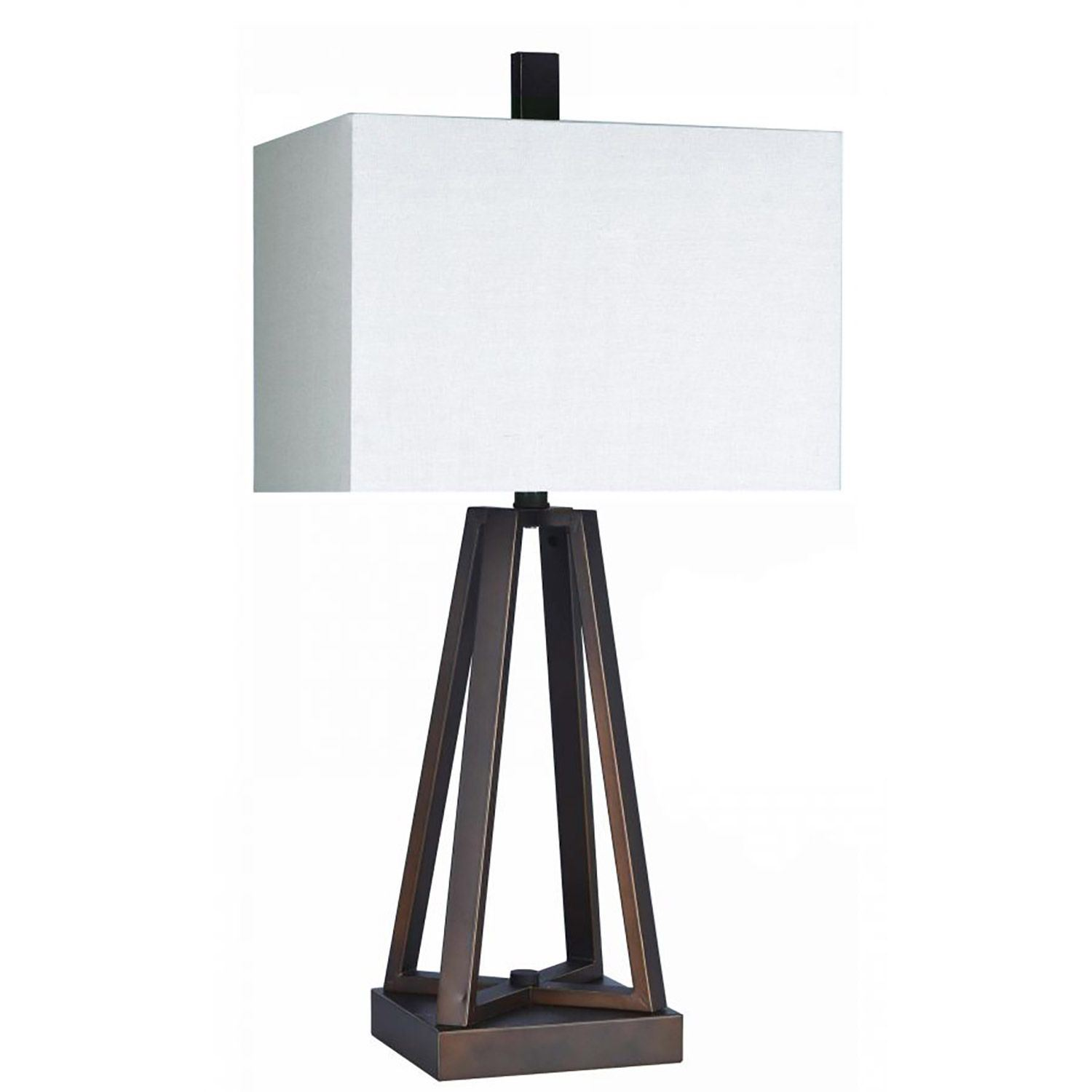 Bronze Architectural Table Lamp