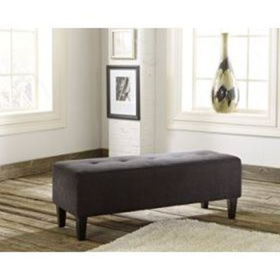 Picture of Black Sinko Oversized Accent Ottoman *D