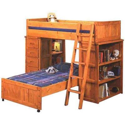 Picture of Bunkhouse Shelf End/ Chest End Bunk Loft