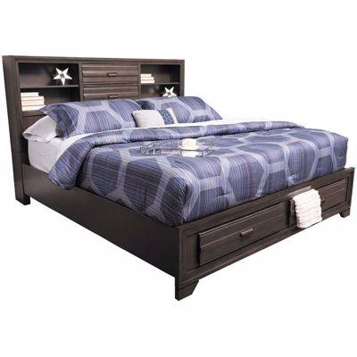 Imagen de Antique Grey Full Storage Bed