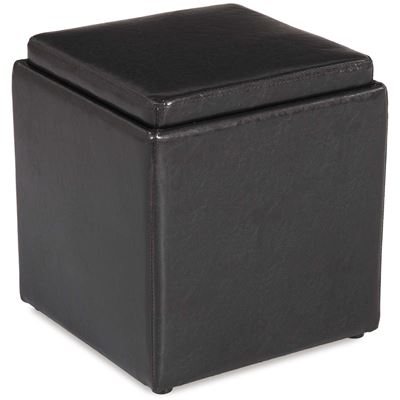Imagen de Blocks Brown Storage Ottoman with Tray