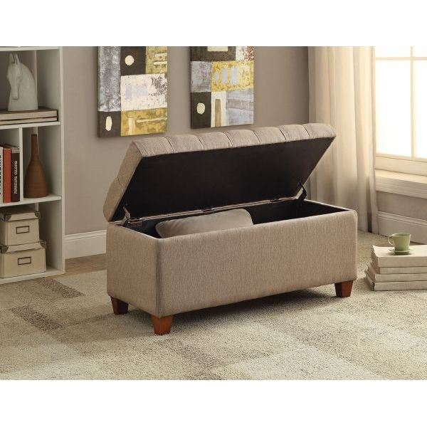 Storage bench taupe 500064 coaster company afw for Coaster co of america furniture