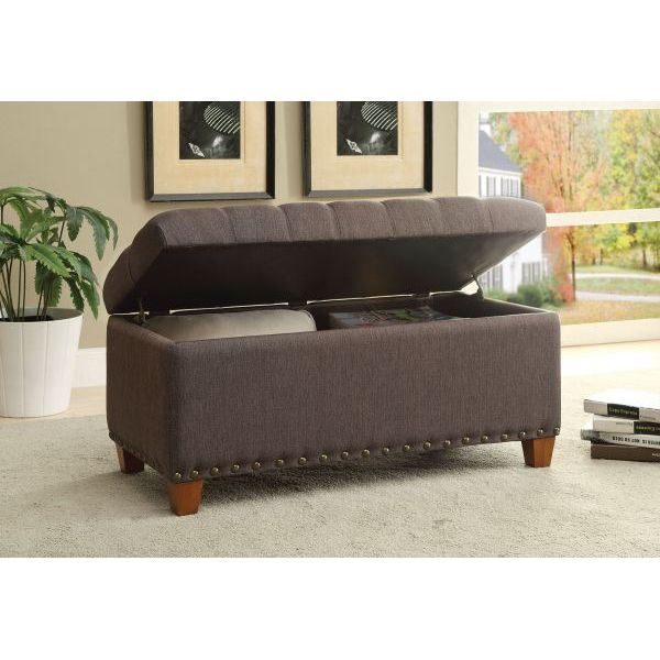 Storage bench mocha 500065 coaster company afw for Coaster co of america furniture