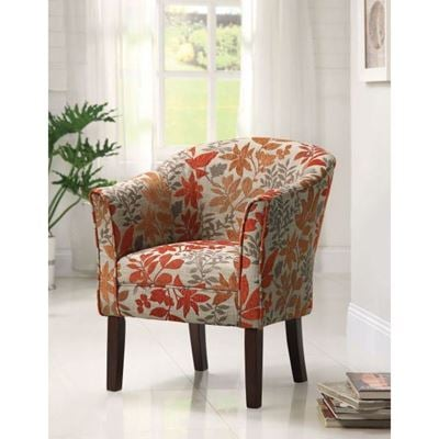 Picture of Accent Chair, Beige/Red/Ora *D