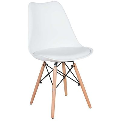 Picture of Aksel White Molded Chair