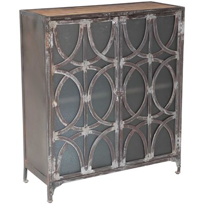 Picture of Iron Cabinet With Glass Doors