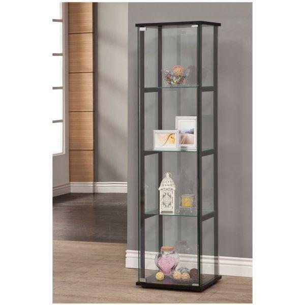 Foto para Black 4 Shelves Curio Cabinet *D