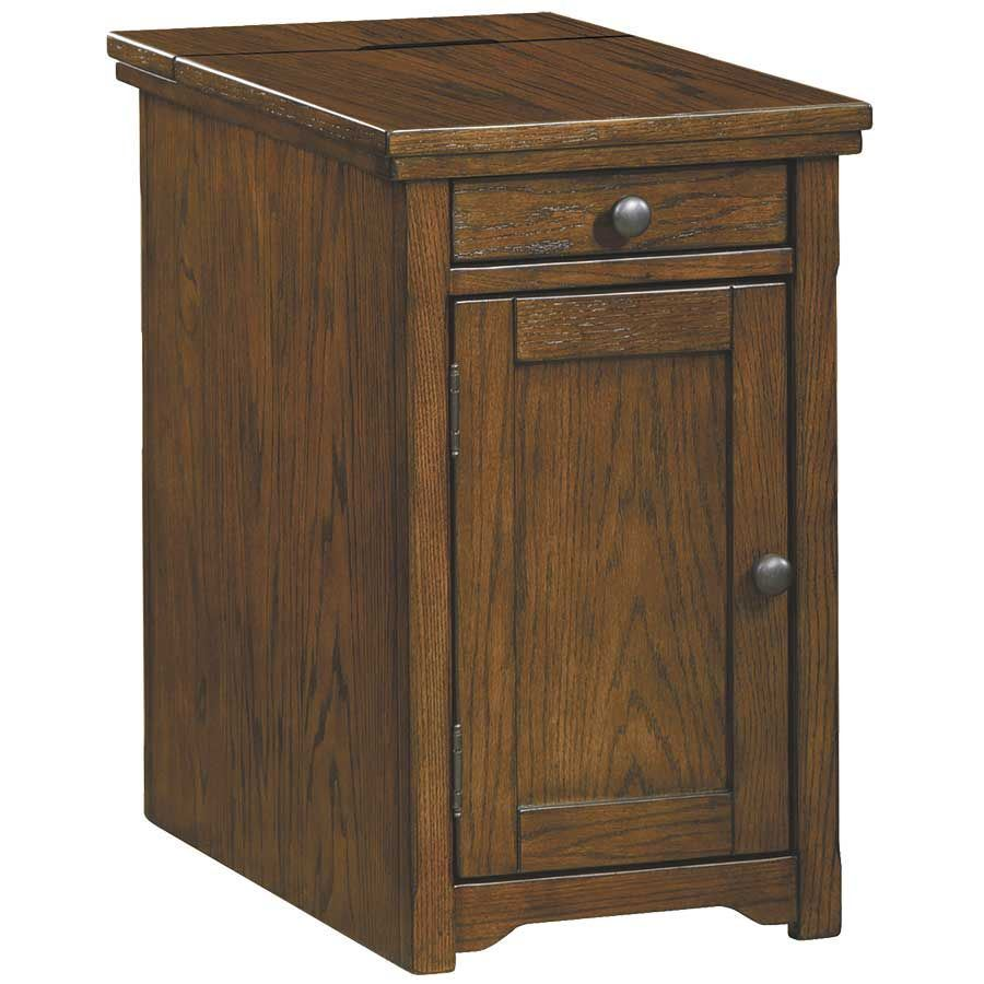 Picture Of Laflron Cherry Brown Power Chairside End Table