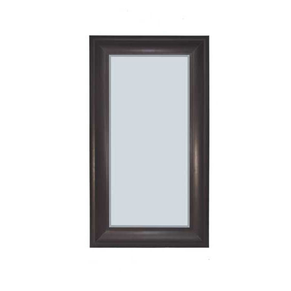 Picture of Black with Red Rub Leaner Mirror