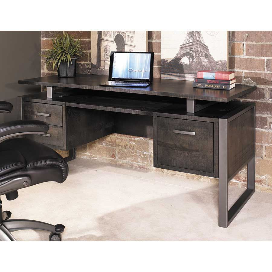 Mar vista 64 adjustable ped desk charcoal mv64pd whalen for Modern furniture companies