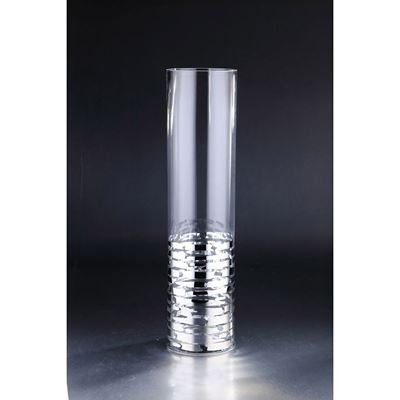 Picture of 23in Silver Clear Cylinder