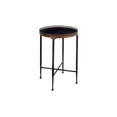 Picture of Round Black Accent Table