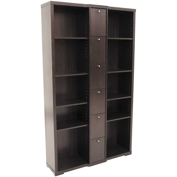 Picture Of Double Bookcase With Doors