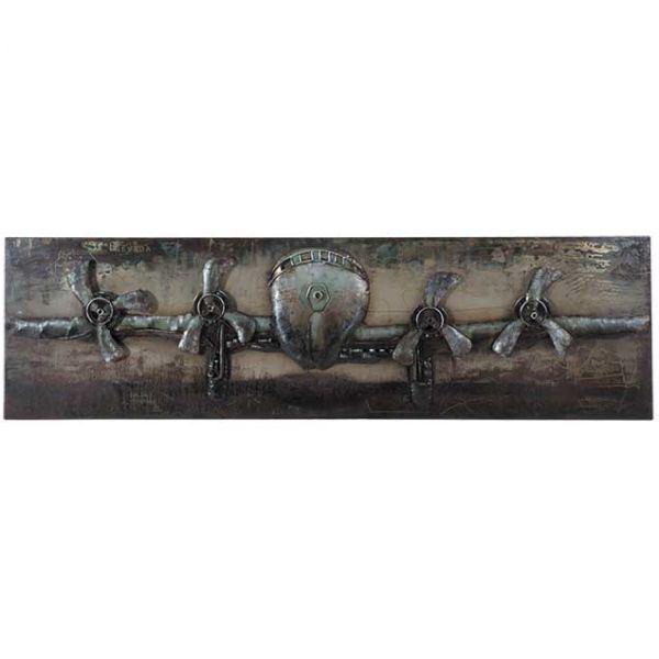 Metal Airplane Wall Decor | 123-130619 | G130619 | PRIME TASTE ...