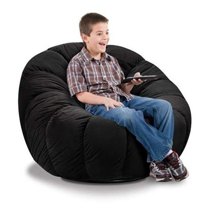 Picture of Chelsea Black Plush Chair