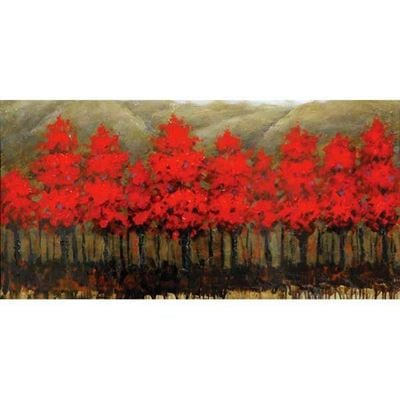 Imagen de Red Trees Aligned Canvas Wall