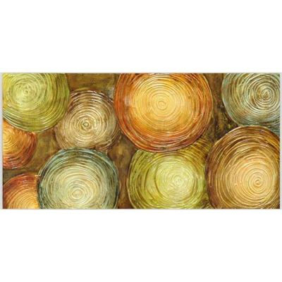 Picture of Citrus Circles Abstract Canvas
