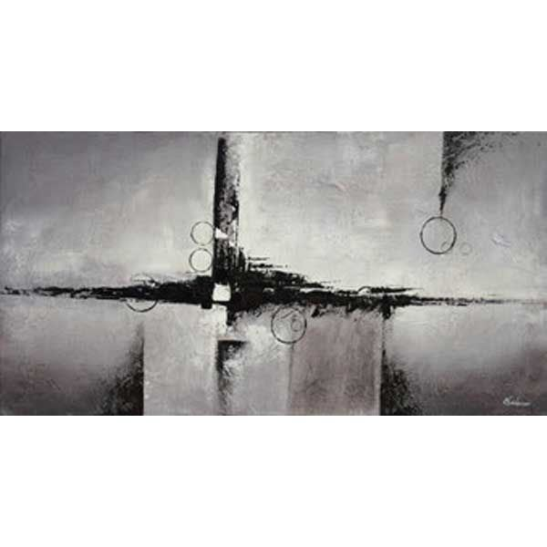 Picture of Abstract Black Grey 60x30 Canv