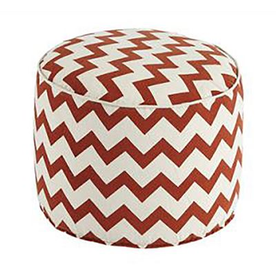 Picture of Red Chevron Pouf *D