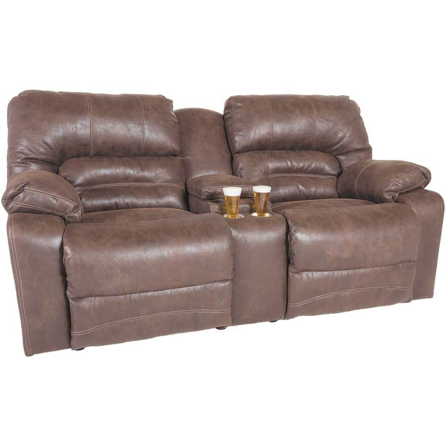 Power Recliner Console Loveseat E-500PRL