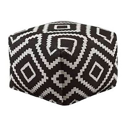 Picture of Black Geometric Pouf *D
