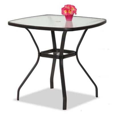 "Picture of Bocara 36"" Square Glass Top Table"