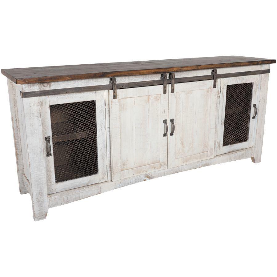 Ifd360stand 80 Pueblo 80 Barn Door Tv Stand By Artisan Home Ifd Afw