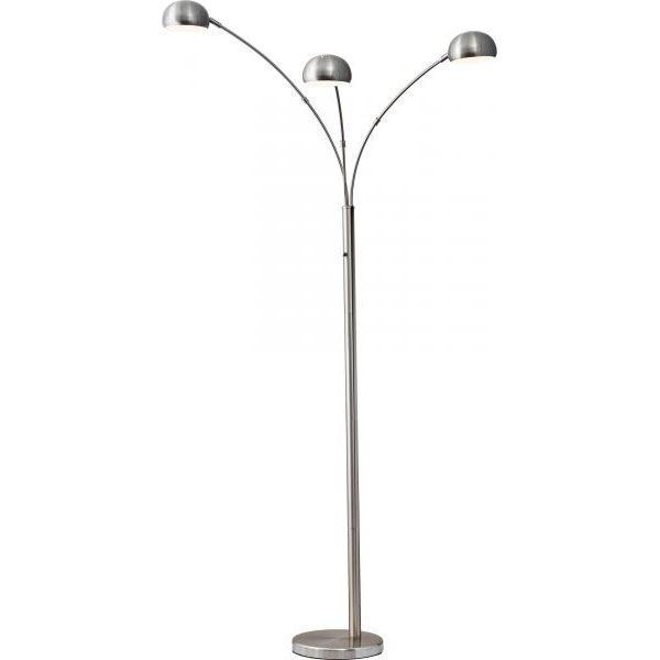 Arc floor lamp 3 arm steel 112 5118 5118 22steel adesso arc floor lamp 3 arm steel aloadofball Image collections