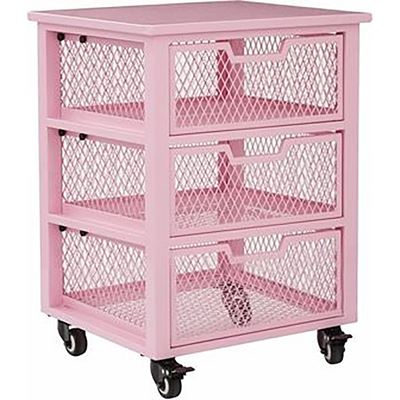 Picture of Clayton Pink Rolling Cart *D