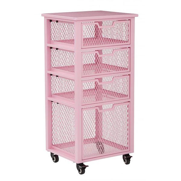 Clayton Pink Rolling Cart *D