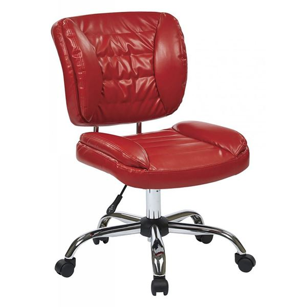 Picture Of Red Armless Office Chair *D