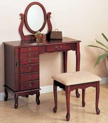 Picture of Two Piece Vanity Set, Brown Red *D