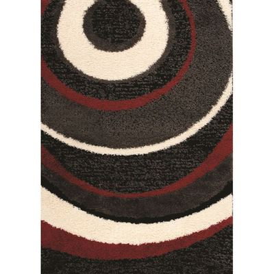 Picture of Black Red Ivory Ripples 5x8
