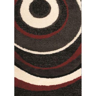Imagen de Black Red Ivory Ripples 5x8