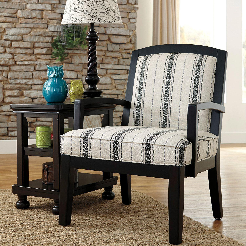 Ashley Furniture Current Sales Ad: Aleyna Stripe Showood Chair F-166OC
