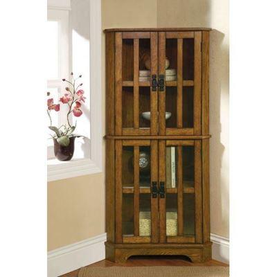 Picture of Corner Curio Cabinet *D
