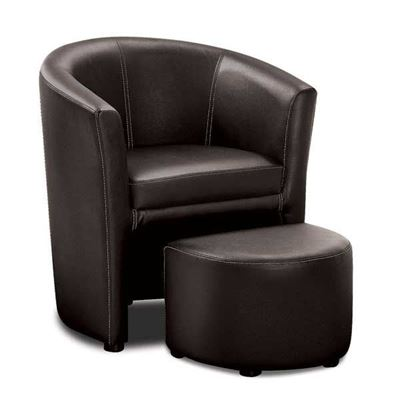 Picture of Lyndon 2PC Black Chair and Ott