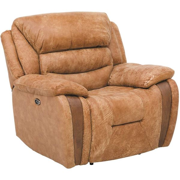 Picture Of Wayne Leather Power Recliner