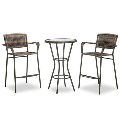 Picture of Bronze Brown 3 Piece Pub Set