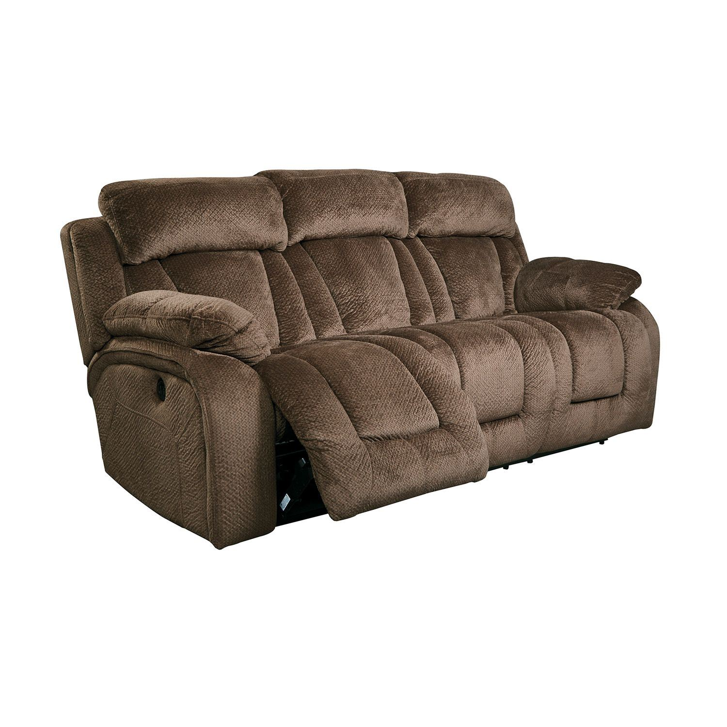 stricklin chocolate reclining sofa r 865rs ashley. Black Bedroom Furniture Sets. Home Design Ideas