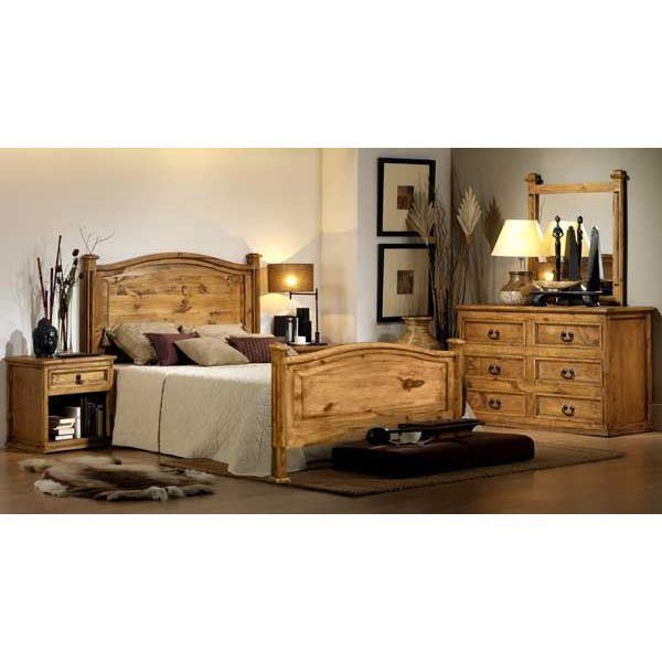 Hacienda Rustic 5 Piece Bedroom Set 53 5pcset San